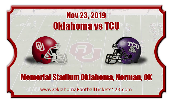 Oklahoma Sooners vs TCU Horned Frogs Football Tickets   11 ...