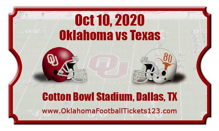Oklahoma Sooners vs Texas Longhorns Football Tickets | 10 ...